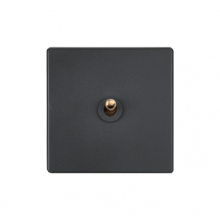 Elegant Grey Toggle Light Switch, 1 Lever