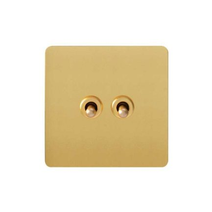 Pearl Gold Toggle Light Switch, 2 Lever