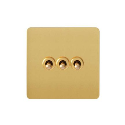 Pearl Gold Toggle Light Switch, 3 Lever