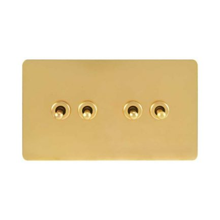 Pearl Gold Toggle Light Switch, 4 Lever