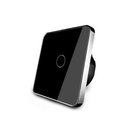 Black Glass Smart Touch Light Switches