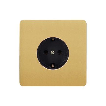 Gold Metal EU Type Wall Socket