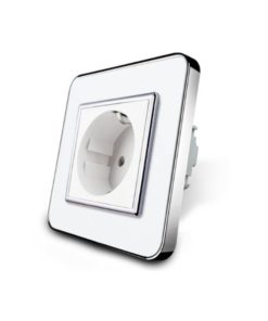 white glass wall plug socket