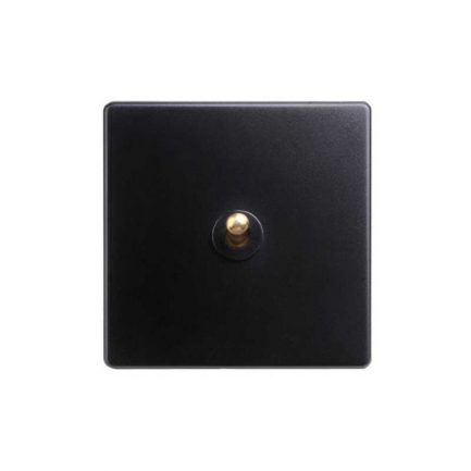 Classy Black Brass Toggle Light Switches