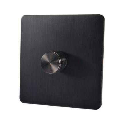 Bastille Black Dimmer, 1 Gang