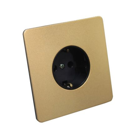 Gold Metal EU Type Wall Socket