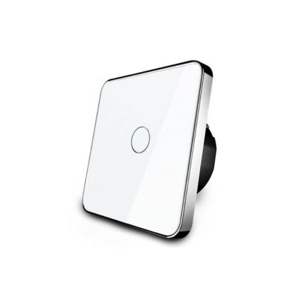 White Glass Smart Touch Light Switch, lever 1