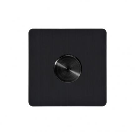 black dimmer light switch