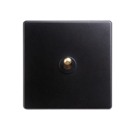 Black with Brass Toggle 1 lever