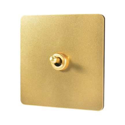 Pearl Gold Toggle Light Switch, 1 Lever
