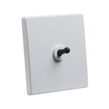 Classic White with black Toggle – 1 Lever