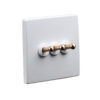 Classic White with Brass Toggle - 3 Lever