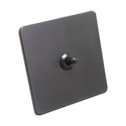 Bastille Black Toggle Light Switch – 1 lever
