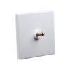 White with Brass Toggle Switch 1 lever
