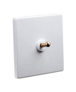 Classic White with Brass Toggle - 1 Lever