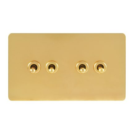 Bastille Gold Toggle Light Switch 4 levers