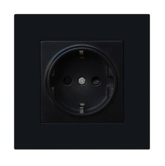 Black EU Type Wall Socket