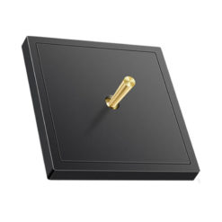 Luna Black with Brass Toggle 1 lever