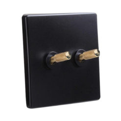 Tex Black with Brass Toggle 2 Lever