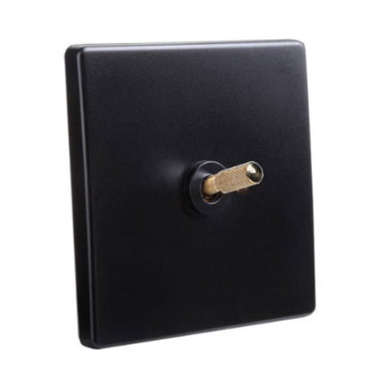 Classic Range Black with Brass Toggle, 1 Lever