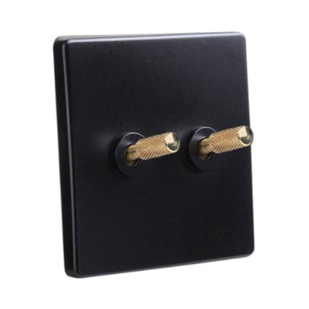 Classic Black with Brass Toggle, 2 Levers
