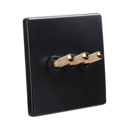 Classic Range Black with Brass Toggle, 3 Levers