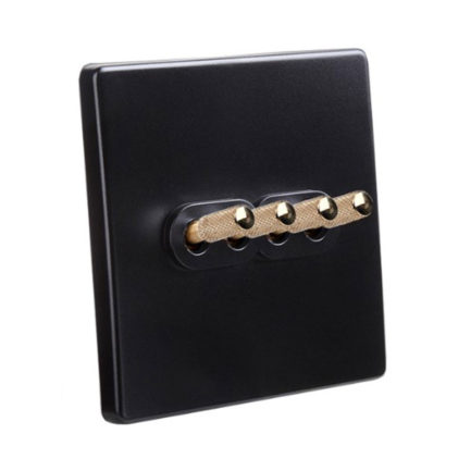 Classic  Black with Brass Toggle, 4 Levers