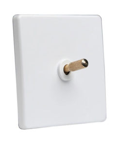 Tex White With Brass Toggle, 1 Lever