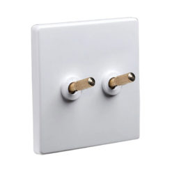 Tex White With Brass Toggle, 2 Lever