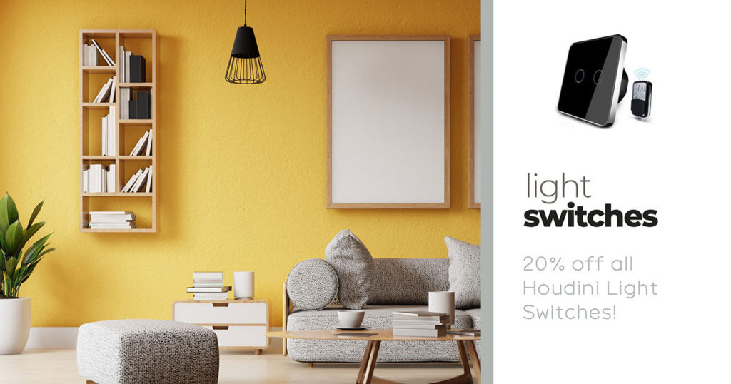 Houdini light switches on sale