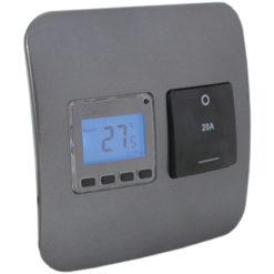 Digital Thermostat with Isolator Switch - Gun Metal